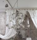アンティークなシャンデリア Coquecigrues コクシグル フランス シャンデリア(ローズモチーフ) LED 天井照明 輸入品