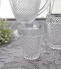 アンティーク風なガラス食器 タンブラーS(ダイヤ柄・クリア) ガラス グラス コップ ポルトガル製 おしゃれ シャビーシック