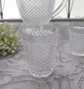 アンティーク風なガラス食器 タンブラーM(ダイヤ柄・クリア) ガラス グラス コップ ポルトガル製 おしゃれ シャビーシック