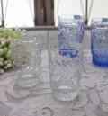 アンティーク風なガラス食器 タンブラーS(フルーツ柄・クリア) ガラス グラス コップ ポルトガル製 おしゃれ シャビーシック