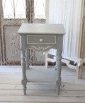 (予約注文品)ナイトテーブル 121148 グレー 木製 アンティーク 家具 カントリーコーナー フレンチグレー ベッドサイドテーブル
