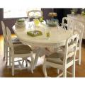 ダイニングテーブル 121108 白 ホワイト 木製 アンティーク 白家具 カントリーコーナー ロマンス コレクション ラウンドダイニン