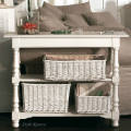 木製 コンソール ホワイト 121087 アンティーク 家具 ディスプレイ棚 本棚 飾り棚 白家具 白 フランス シャビーシック アンティ