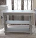 アンティーク 家具 コンソール 2段(グレー)ROMANCE ロマンス・コレクション ディスプレイ棚 本棚 飾り棚 白家具 白 フランス