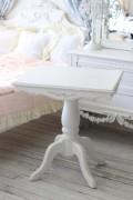 シャビーシック ティーテーブル スクエア 121140 小型 テーブル 木製 ホワイトカントリーコーナー スクエアテーブル 2人掛け用ダ