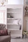 (予約注文品)アンティーク 家具 ブックシェルフ ホワイト 121157 木製 5段シェルフ カントリーコーナー 本棚 ディスプレイラ