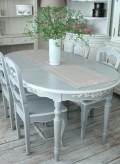 アンティーク調 ダイニングテーブル 白 ホワイト 4本脚 & ダイニングチェアー ウッド 5点セット ロマンスコレクション フレンチ