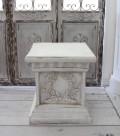 アンティーク風 コラムスタンド 花台(リボン000) テラコッタ コラム ガーデニング シャビーシック  フレンチカントリー アンテ