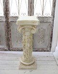 アンティーク風 コラムスタンド 花台(ローズ003) テラコッタ コラム ガーデニング シャビーシック  フレンチカントリー アンテ