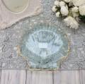 シェルモチーフのシャビーなガラスプレート(004)トレー 小物入れ おしゃれ アンティーク風 雑貨 輸入雑貨 antique shabby ch