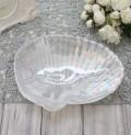 シェルモチーフのシャビーなガラスプレート(002)トレー 小物入れ おしゃれ アンティーク風 雑貨 輸入雑貨 antique shabby ch