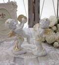 エンジェル オブジェ(089) 天使置物 ホワイト 可愛い ロマンティック 姫系 癒し ホワイト アンティーク風