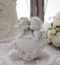 エンジェル オブジェ(091) 天使置物 ホワイト 可愛い ロマンティック 姫系 癒し ホワイト アンティーク風