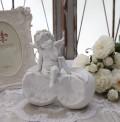 エンジェル オブジェ(092) 天使置物 ホワイト 可愛い ロマンティック 姫系 癒し ホワイト アンティーク風