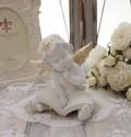 エンジェル オブジェ(094) 天使置物 ホワイト 可愛い ロマンティック 姫系 癒し ホワイト アンティーク風
