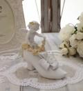 エンジェル オブジェ(096) 天使置物 ホワイト 可愛い ロマンティック 姫系 癒し ホワイト アンティーク風