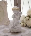 エンジェル オブジェ(097) 天使置物 ホワイト 可愛い ロマンティック 姫系 癒し ホワイト アンティーク風