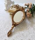 アンティーク風 ロココ調 ハンドミラー 206 ゴールド系 手鏡 ロココ 姫系 可愛い アンティーク風 シャビーシック フレンチカント