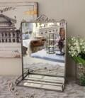 アンティーク 雑貨 (ウォールミラー リボン シルバー 004)壁掛け 置き型 スタンドミラー 鏡 おしゃれ アンティーク風 雑貨 輸