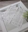 (SALE50) シャビーシックなテーブルセンター 白 ホワイトテーブルランナー ドイリー ダマスク フレンチクラシック シャビーシッ