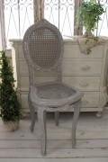 フランス家具 フレンチグレーのドールチェア 椅子 木製 シャビーシック アンティーク調 フレンチカントリー 姫系