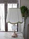 ロココ調のテーブルランプ【ライトゴールド×プリーツシェード】 卓上ランプ 大型 ヨーロピアン ライト 照明