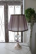 ロココ調のテーブルランプ【シルバー×パープルシェード】 卓上ランプ ヨーロピアン ライト 照明
