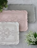 アンティーク フレンチトレイ Lサイズ ホワイト ピンク ブルーグレー アンティーク風 antique 雑貨 ディスプレイトレイ シャビー