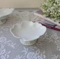 プチフルールプレート(フラワー364) 台座の付いた可愛いスウィーツトレー ケーキスタンド アクセサリートレー 陶器製 ホワイト