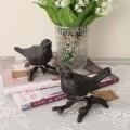 アンティークなバードオブジェ 小鳥の置物 鋳物 キャストアイアン 鳥モチーフ フレンチカントリー アンティーク風 雑貨 シャビー