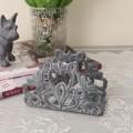アンティークなペーパーフォルダー(グレイ) 鋳物 キャストアイアン フレンチカントリー アンティーク風 雑貨 シャビーシック