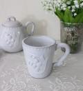 アンティーク風 フレンチ食器 ミュゲシリーズ マグカップ フレンチ食器 スズラン フランス アンティーク調 陶器 フレンチカント