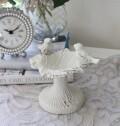 アンティークなホワイトバード リーフコンポート 0265 鋳物 キャストアイアン フレンチカントリー アンティーク風 雑貨 シャビー