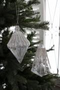 ★SALE★ クリスマスオーナメント♪ (グラスジェムオーナメント・2種) シャビーシック 北欧 フレンチ ロマンティック