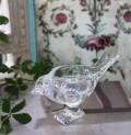グラスバードオブジェ ガラスの鳥の置物 鳥モチーフ 置物 ガラス製 アンティーク 雑貨 アンティーク風 姫系 輸入雑貨  シャビー