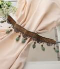 カーテンタッセル タイバック(ターコイズグリーン 5535)タッセルフリンジ カーテン止め 房飾り おしゃれ 可愛い アンティーク