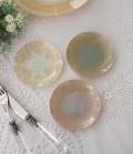 トリアノン・ガラス食器 ミニプレート3枚セット(ラウンド) ガラス製 小皿 輸入食器 アンティーク風 アンティーク 食器 雑