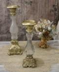 グラスキャンドルホルダーS(ゴールド) キャンドルスタンド シャビーシック フレンチカントリー アンティーク 雑貨 輸入雑貨