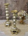 ミラーキャンドルホルダーS(ゴールド) キャンドルスタンド シャビーシック フレンチカントリー アンティーク 雑貨 輸入雑貨