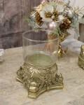 ガラスベース(ゴールド) グラスベース キャンドルホルダー シャビーシック フレンチカントリー アンティーク 雑貨 輸入雑貨