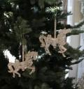 ★SALE・30★ X'mas♪♪ アクリルホースオーナメント・木馬(ピンクゴールド) クリスマスオーナメント ツリーオーナメン