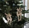 (SALE・30) X'mas♪♪ アクリルディアオーナメント・トナカイ(ピンクゴールド) クリスマスオーナメント ツリーオーナ