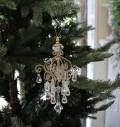 ★SALE・30★ X'mas♪♪ シャンデリア型オーナメント クリスマスオーナメント ツリーオーナメント シャビーシック フレン