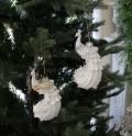 X'mas♪♪ ガラスピーコックオーナメント(シルバー・ゴールド) クリスマスオーナメント ツリーオーナメント シャビーシック