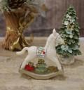 X'mas♪♪ ホースデコ・ミニ木馬の置物 オブジェ クリスマス ディスプレイ シャビーシック フレンチカントリー アンティーク