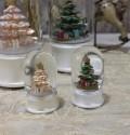 ★SALE・30★ X'mas♪♪ ミニ スノードーム・ツリーショート(2色あり) スノードーム オブジェ クリスマス ディスプレ