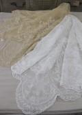 アンティーク 雑貨 テーブルクロステーブルリネン 姫系 シャビーシック フレンチカントリー 輸入雑貨 119cm角 2色 ギリシ