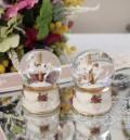 小ぶりで可愛いミニ スノードーム(木馬) 可愛い ウサギ 置物  シャビーシック フレンチカントリー アンティーク 雑貨 輸