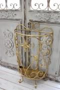 アンティーク風のお洒落な傘立て(半円・アラベスク) アンブレラスタンド 傘立て ゴールド アイアン製 シャビーシック アンティ