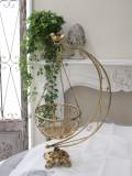 アンティーク風のプランター&イーゼルセット(ゴールド) 花台 ハンギングプランター アイアン製 シャビーシック アンティーク